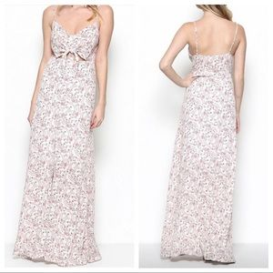 Illa Illa floral button up maxi dress